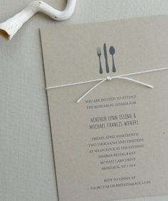 Rustic Twine Rehearsal Dinner Invitation Deposit by avisualconcept, $50.00