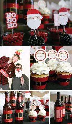 Jolly Santa Christmas Party Ideas, Decorations & Supplies | BigDotOfHappiness.com #HappyDot
