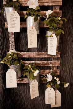 Gorgeous Table Plan Idea - Often you can include your Wedding Favors as part of the listing!