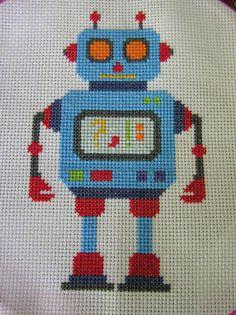 sandylandya@outlook.es Another Cross Stitch Robot by doublewinky, via Flickr