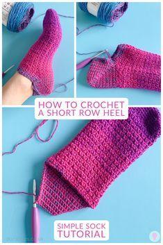 Easy Crochet Socks, Gilet Crochet, Crochet Slipper Pattern, Crochet Slippers, Crochet Blanket Patterns, Diy Crochet, Crochet Stitches, Crochet Sock Pattern Free, Crotchet Socks