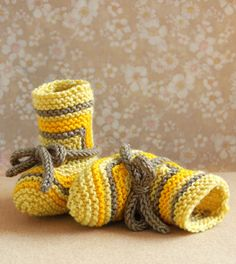 Whit's Knits: Elizabeth Zimmermann's Baby Booties - Knitting Crochet Sewing Crafts Patterns and Ideas! - the purl bee