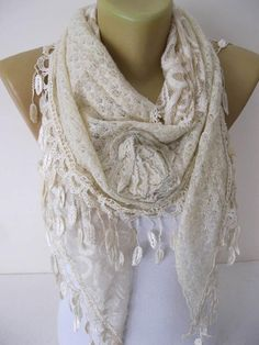 Beige Scarf-Fashion Shawls-Trend Scarf gift Ideas For Her