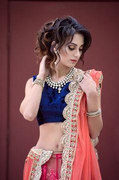 Gorgeous Blue & Orange lehenga #lehenga #choli #indian #shaadi #bridal #fashion #style #desi #designer #blouse #wedding #gorgeous #beautiful