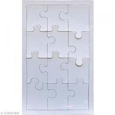 Puzzle en carton blanc à décorer 12 pièces x 10 http://www.creavea.com/puzzle-en-carton-blanc-a-decorer-12-pieces-x-10_boutique-acheter-loisirs-creatifs_31126.html