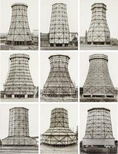 softpyramid:  Bernd and Hilla BecherCooling Towers Wood-Steel, 1959–77Nine gelatin silver printseach19.7 x 25.4 cmRIP Hilla Becher