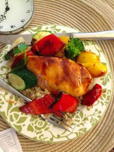 applesauce barbecue chicken  ... easy recipe for crock pot or oven