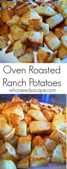 Oven Roasted Ranch Potatoes a fabulously easy side dish that is kid ...