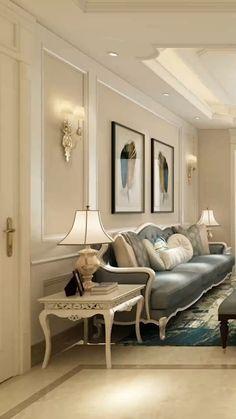 Elegant Home Decor, Luxury Home Decor, Luxury Interior Design, Home Room Design, Living Room Designs, Room Decor Bedroom, Living Room Decor, House Ceiling Design, House Design