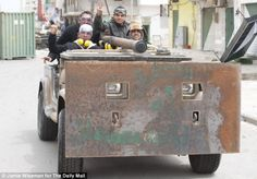 Homemade armor car: Libyan Rebels