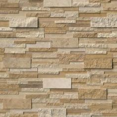 Change the look and feel of your living space with the addition of this durable MSI Casa Blend 3D Ledger Panel Multi Finish Natural Quartzite Wall Tile.