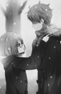 Browse Kyoukai No Kanata Mirai Kuriyama collected by Driss Erghouni and make your own Anime album. Romantic Anime Couples, Cute Anime Couples, Otaku, Anime Amor, Manga Anime, Anime Cosplay, Anime Love Story, Mirai Kuriyama, Beyond The Boundary