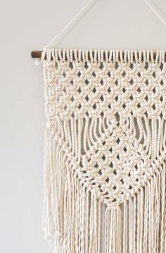 This short video tutorial will show you how to make three basic macrame knots. I love making these fun, bohemian macrame wall hangings!