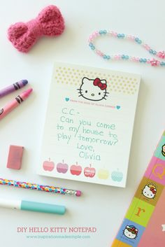 DIY Hello Kitty Note