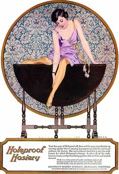 Advertisement for Holeproof Hosiery (Holeproof Hosiery), art by Coles Phillips: 1924.
