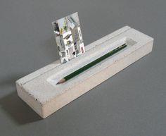 Stiftablagen - Beton-Stiftablage Sanddüne von Betongedoens bei DaWanda