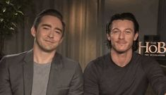lee pace luke evans - they both look kinda smug here. Like they got interrupted discussing which of them is the most handsome.