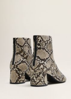 100% authentic 5e867 ede00 Snake-effect ankle boots - Women