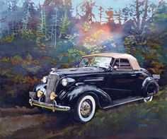 Chevy in the Woods Painting by Mike Hill - Chevy in the Woods Fine Art Prints and Posters for Sale