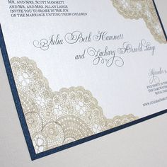 gold and navy invitations, but I'd like Sapphire and Ivory