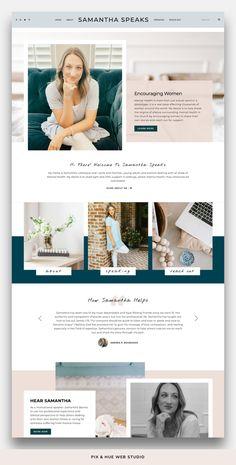 Emily Grace - Feminine WordPress Theme Showcase - Emily Grace is a feminine WordPress theme that comes with a set of eight beautifully-designed pages - Web Design Trends, Design Websites, Ui Design, Design Food, Web Design Tips, Design Ideas, Graphic Design, Website Design Inspiration, Website Design Layout