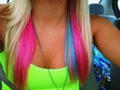 i'm a bit obsessed with colored hair