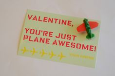 Just Plane Awesome Valentines - Free Printable To Make Them