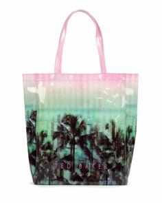 c17960f8cd93fd Palm tree paradise printed shopper - Light Pink