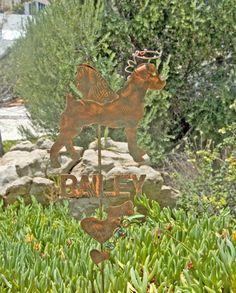 Name Plates Samples / Dog / Cat / Animal / Copper / Garden Art / Metal Name Sign / Place a Custom Order / Patina Finish / Handmade