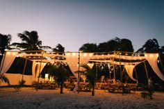 A Romantic Beach Destination Wedding at Akiin Beach Club in Tulum, Mexico Low Cost Wedding, Wedding Tips, Our Wedding, Wedding Shit, Free Wedding, Wedding Styles, Wedding Decor, Tulum Beach, Destin Beach