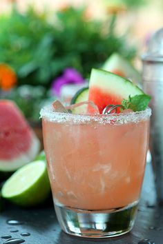 This Watermelon, Lime and Cucumber Cocktail is a perfect summer cocktail with fruit of the season and a refreshing note from cucumber. Perfect for July 4th.