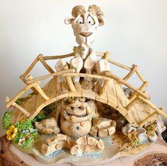 Billy Goats Gruff - Ceramic Sculpture £235