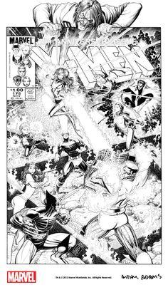 Arthur Adams X-Men - Bing images Comic Book Pages, Comic Book Artists, Comic Books Art, Apocalypse Comics, Marvel Comics, Comic Pictures, Comic Pics, Superhero Coloring, Hulk Art