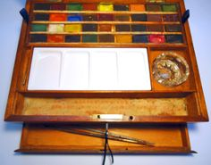 This is lovely. Reeves Antique Superior Water Colors Elementary Box