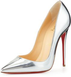 Christian Louboutin So Kate Metallic Red Sole Pump, Gray