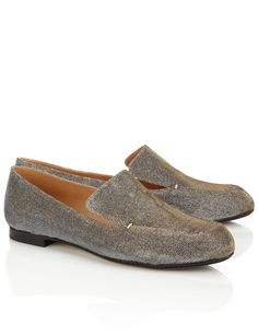 Glitter Leather Sikot Loafers | Robert Clergerie | Avenue32