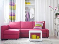 ikea Österreich, wohnzimmer mit friheten eckbettsofa mit bezug ... - Wohnzimmer Schwarz Weis Pink