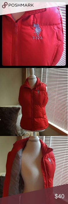 US Polo Association Puffer Vest US Polo Association puffer vest. Worn once! Perfect condition! Smoke free, pet free home! Make offer! US Polo Association Jackets & Coats Puffers