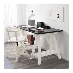 KLIMPEN / FINNVARD Table - black/white - IKEA