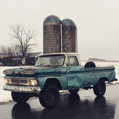 """First time on the road with the new front leaf springs, bushings, shackles, tie rod and tie rod ends. Road really nice and all the squeaks are gone. Next thing to do is lift the backend up 2"""". #roddersjournal #chevy #4x4 #chevytrucks #c10era #c10 #truckdaily #truckdrunk #k10 #leafsprings #1966 #fourwheelporn #fourwheeldrive #60_66 #liftedtrucks #gm #maketrucksgreatagain #oldiron #trucks #pickup #v8 #"""