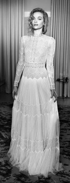 Lihi Hod 2015 Wedding Dresses with sleeves — Film Noir in White Bridal Collection Wedding Dress Film, 2015 Wedding Dresses, Wedding 2015, Boho Wedding, Bridal Dresses, Wedding Gowns, Dream Wedding, Wedding Hijab, Dresses Dresses