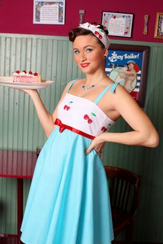 0944143a87 Cherry Maternity Dress  vintage style   pin-up   rockabilly maternity wear  with bandana by TiCCi Rockabilly Clothing