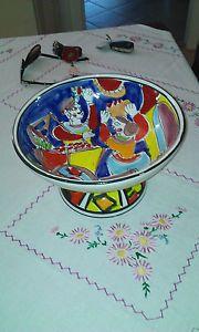 centrotavola in ceramica siciliana