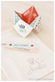Faire-part de naissance original: Cocotte en papier
