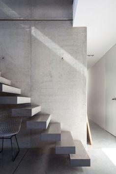 Stairs photo credit louis lemaire adore the exposed for Pre built stairs interior