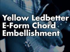 Yellow Ledbetter E-Form Chord Embellishment  Hendrix style