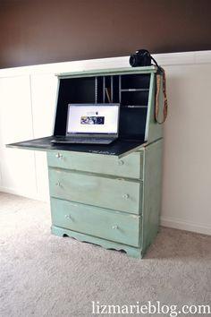 DIY shabby chic Secretary Desk