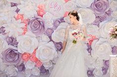 Paper Flower Backdrop - Unique Paper Flowers Backdrop - Paper Flowers - Wedding Paper Flowers