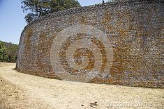 Details of dry stone walling of the great Zimbabwe ruins.