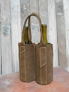 Leather Wine Carrier for 2 bottles of wine by 2NFrom on Etsy, $48.00